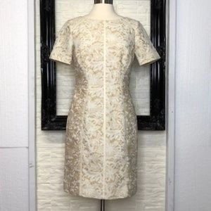 ANTONIO MELANI Nelly Faux Leather and Lace Dress